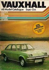 Vauxhall Chevette Viva Magnum Cavalier VX Series Sep-Oct 1976 UK Market Brochure