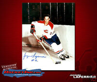JACQUES LAPERRIERE Signed Canadiens 8 X 10 -70016