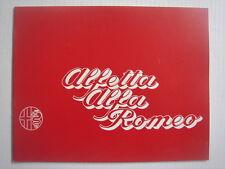 ALFA ROMEO  Alfetta  brochure/Prospekt  03-1974.