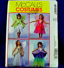 McCall's 4887 Fairy 4 looks Little Fairies Costume Sewing Pattern Sm girl 2-5