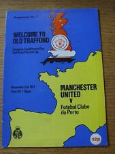 02/11/1977 Manchester United v Porto [European Cup Winners Cup] (Item in very go