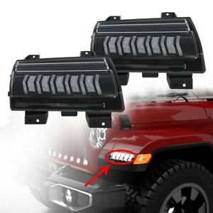 Smoke/Clear LED Turn Signal light Fit For 2018-2020 Jeep Wrangler JL/JLU Sport S
