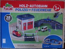 Playland Holz Eisenbahn, Autobahn oder Polizei/Feuerwehr Auswahl
