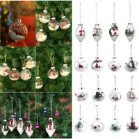 Soft Plastic Clear Snow Ball Christmas Trees Hanging Ornament Xmas Baubles Decor
