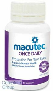 Macutec Once Daily 60X3 Bottles Protection for your eyes Supports Macular Health