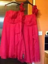 Debenhams Pink chiffon bridesmaid/prom/occasion dresses Size 6 & 14 New REDUCED