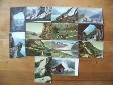 Lot 0f 13 Vintage Postcard Norge Norway Landscape Mountain Cities 2 norge stamps