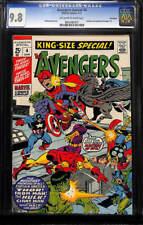 Avengers Annual #4 CGC 9.8 1971 Thor! Iron Man! Hulk! Twin Pedigree! H7 917 cm