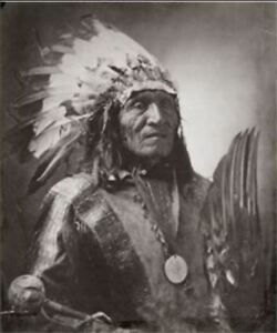 Chief He Dog by J.A. Anderson, Platinum Print, Signed by Stan Klimek - 1999