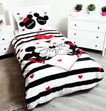 Minnie Mouse and Mickey Mouse Bedding Set Cotton Single Duvet Cover Pillow Case