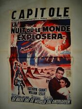 SCI FI/THE NIGHT THE WORLD EXPLODED/  U19S/belgium poster