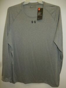 91029-13 Mens UNDER ARMOUR Long Sleeve  1268475 025 Grey $29.99 New