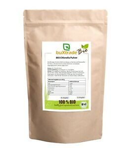 250g | BIO Chlorella Pulver | Mikroalge | Superfood | healthy | junges Grün