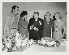 1937 Press Photo C.Gable, M.Loy, L.Barrymore,L.Mayer and Jean Harlow Celebrate