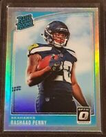 RASHAAD PENNY 2018 DONRUSS OPTIC RATED ROOKIE SILVER HOLO PRIZM MINT #168