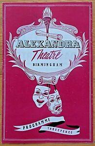 For Pete's Sake programme Birmingham Alexandra Theatre 1956 Delena Kidd