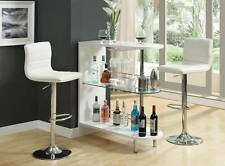 White Bar Table and Bar Stool Chair with Wine Storage by Coaster 101064-120345