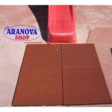 Mattonella piastrelle pavimentazione antitrauma per parchi giochi 50x50 sp 3 cm