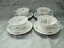 Winterling Bavaria EMPRESS Gold Maria Theresia 4 Coffee Tea Cup & Saucer Sets EC