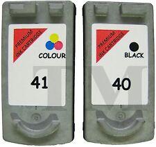 2 regenerados Cartucho de tinta PG-40. Negro  CL-41 Color. Canon Pixma MP140