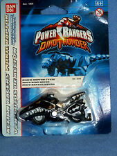 Power Rangers Dino Trueno Negro Raptor ciclo Nuevo Diecast