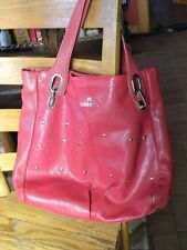 EUC GUSTTO RED LEATHER LARGE TOTE/PURSE MSRP  $550.00