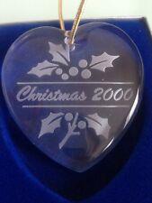 Set of 4 Mikasa Heart Holiday Ornaments Christmas 2000