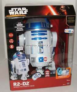 Star Wars The Force Awakens R2-D2 Interactive Robotic Remote Control Robot TRU