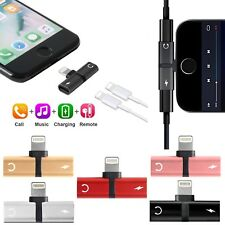Adapter For Apple iPhone X 7 6 8 Plus Splitter Audio Earphone AUX Charger iOS 11