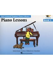 Hal Leonard Student Piano Library Lessons Learn to Play Songs MUSIC BOOK 1 & CD