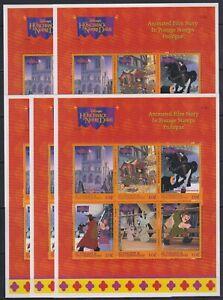 O453. 5x St Vincent - MNH - Animation - Disney - Hunchback of Notre Dame