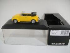 1/43 MINICHAMPS. VOLKSWAGEN 1302 Cabriolet 1970-72 Yellow.