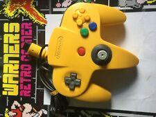 vtg Nintendo n64 64 yellow joy stick  pad game Tested Working Peripheral