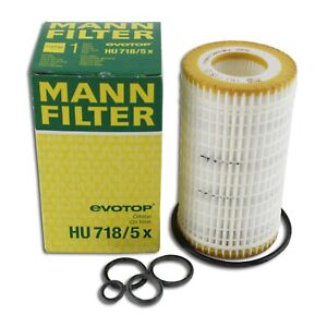 Mann Oil Filter HU718/5x fits Mercedes M-CLASS W164 ML 350 4-matic