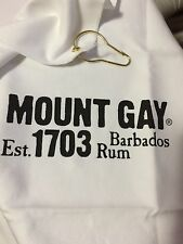 """New Mount Gay Barbados Rum est 1703 Shammy Towel with Hook 18""""x14"""""""
