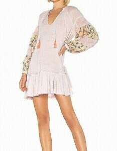 Free People Women's Dress Pink Size Medium M Floral Print Shift $128- #330