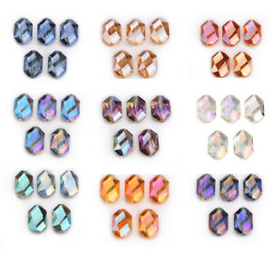 15pcs Oval Crystal Glass Faceted Beads Oblong Wholesale DIY Jewelry Making 18mm
