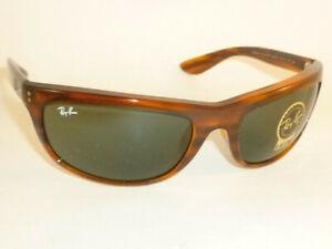 New Ray Ban Balorama Sunglasses Striped Havana Frame RB 4089 820/31 Green Lenses