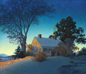 Maxfield Parrish Norwich Giclee Art Paper Print Paintings Poster Reproduction