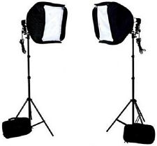 "Pro 20""x20"" softbox speedlite & L bracekt hotshoe mount 4 Canon Nikon stand kit"