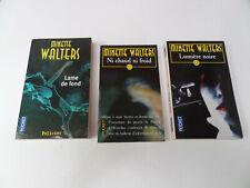 lot de 9 livres Minette Walters - Résonnances, Cuisine sanglante, Lumière noire