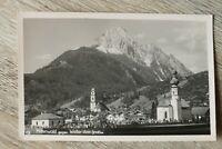 OBB 7) Bayern AK Mittenwald 1930-40er Friedhof Kirche Gebäude Häuser Wetterstein