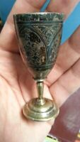 Antique USSR Russian Sterling Silver 875 Vodka Cup Kubachi