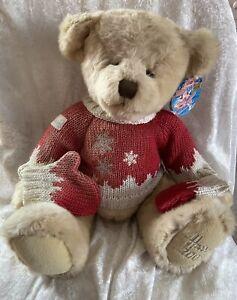 Harrods Collectible Souvenir 2008 Christmas Teddy Bear Oscar With Swing Tag
