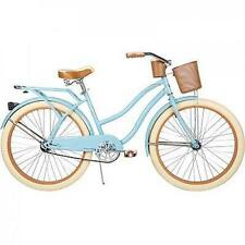 "26"" Huffy Nel Lusso vintage Women's Cruiser Bike, Gloss Blue, Beach Bicycle NEW"