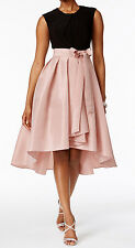 SL Fashions New Colorblocked High-Low Dress Size 4 MSRP $119 #BN 1597