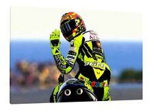 Valentino Rossi - 30x20 Inch Canvas - Framed Picture Print Painting Moto GP
