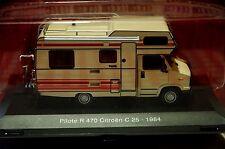 CAMPING CAR N°1 PILOTE R 470 CITROEN C25 1984  1/43 EME SOUS BLISTER