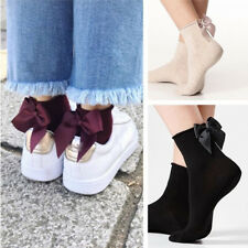 2Pcs Ankle Socks Hosiery Low Cut Fishnet Bow Knot Mesh Net Women's Gifts Newest