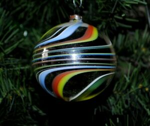 rare old German christmas ornament mouth blown colorful filament glass